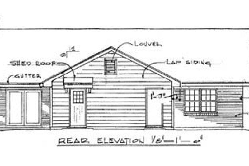 Traditional Exterior - Rear Elevation Plan #14-145 - Houseplans.com