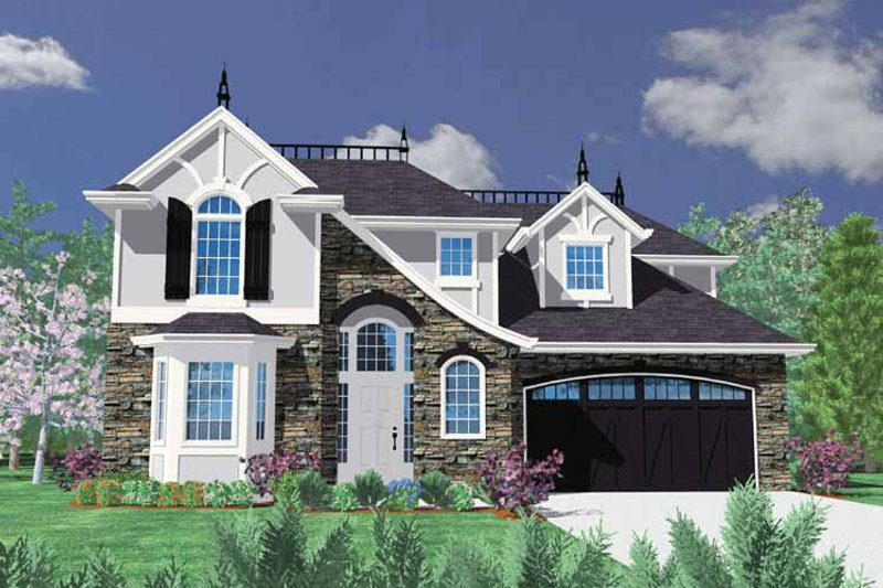 Traditional Exterior - Front Elevation Plan #509-366 - Houseplans.com