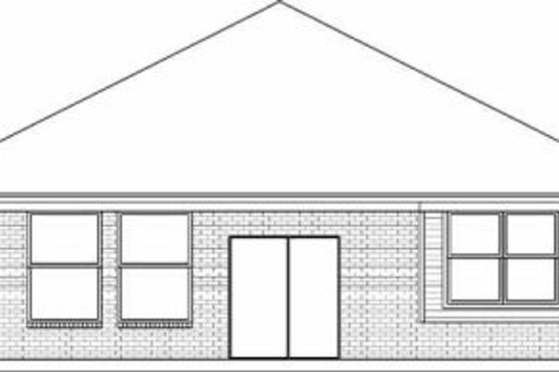 Traditional Exterior - Rear Elevation Plan #84-125 - Houseplans.com