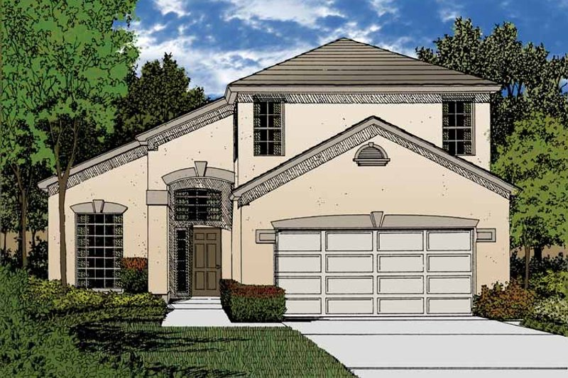 Contemporary Exterior - Front Elevation Plan #1015-43