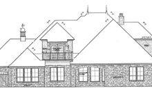House Plan Design - European Exterior - Rear Elevation Plan #310-1276