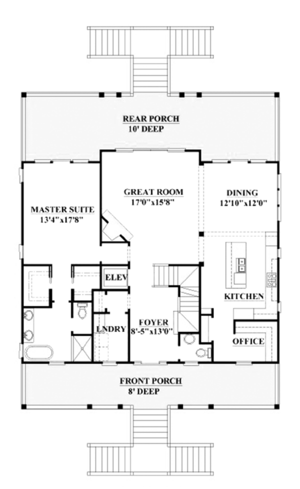 Country Floor Plan - Upper Floor Plan Plan #991-31