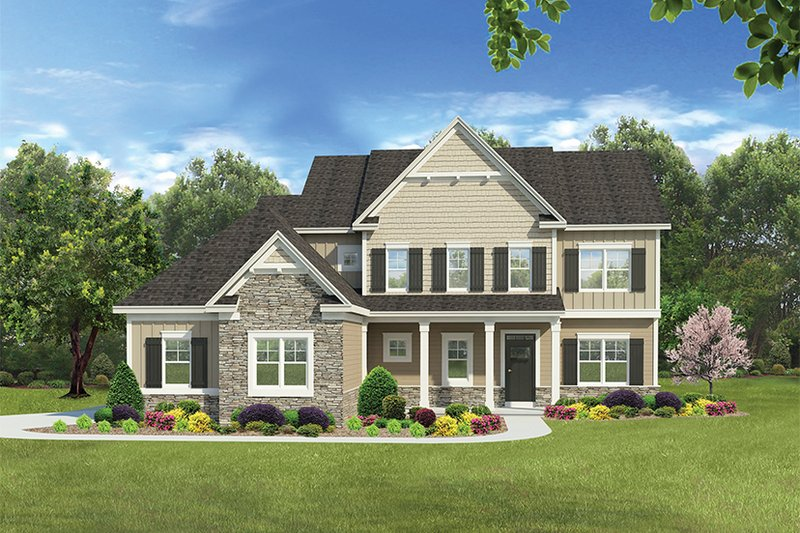 Traditional Exterior - Front Elevation Plan #1010-136 - Houseplans.com