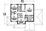 Country Style House Plan - 3 Beds 2 Baths 2428 Sq/Ft Plan #25-4427 Floor Plan - Upper Floor Plan