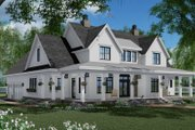 Farmhouse Style House Plan - 3 Beds 3.5 Baths 2570 Sq/Ft Plan #51-1150 Exterior - Front Elevation