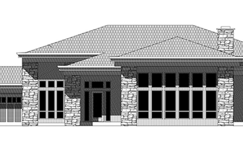 Contemporary Exterior - Front Elevation Plan #943-19 - Houseplans.com