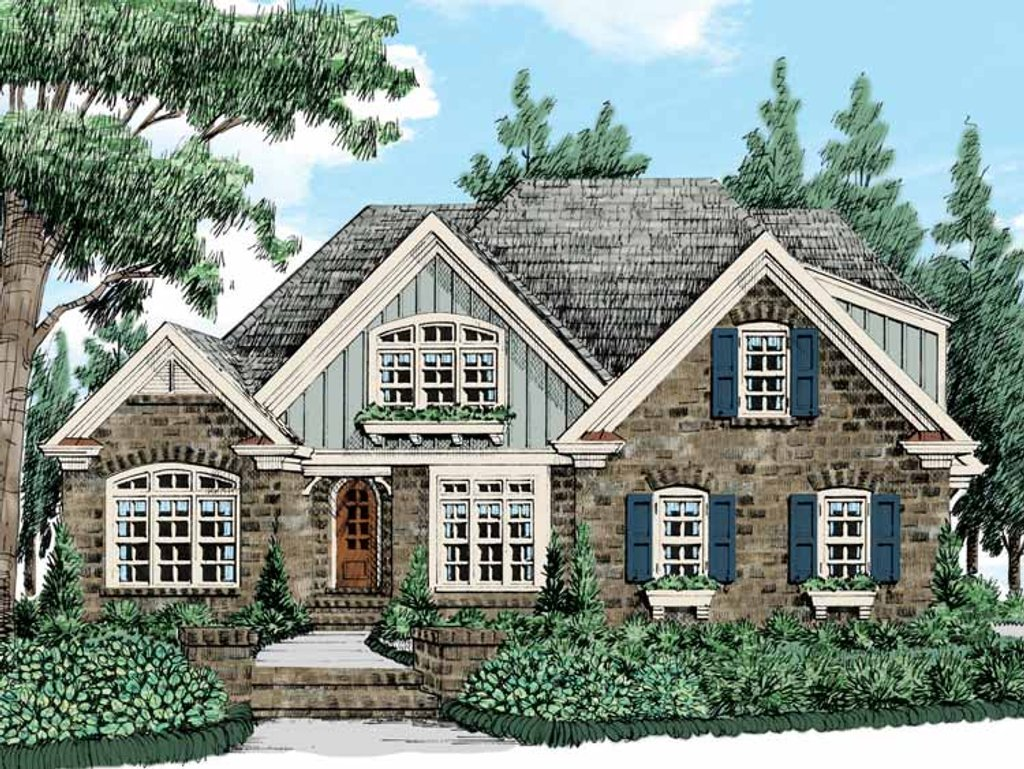 Country style house plan 4 beds 3 baths 2508 sq ft plan for Summerlake house plan