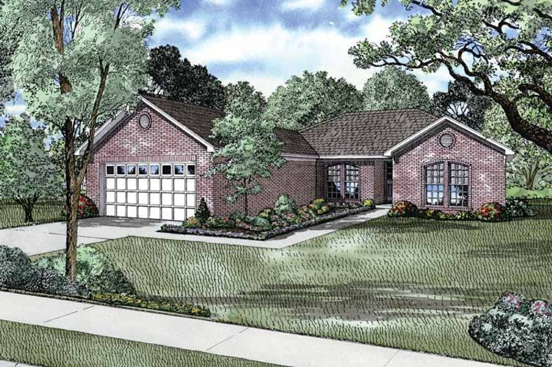 Traditional Exterior - Front Elevation Plan #17-2766 - Houseplans.com