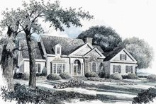 Home Plan - Country Exterior - Front Elevation Plan #429-88