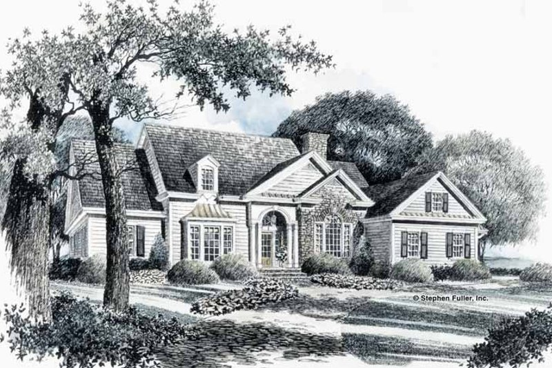 House Plan Design - Country Exterior - Front Elevation Plan #429-88