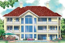Home Plan - Mediterranean Exterior - Rear Elevation Plan #930-134