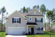 Colonial Style House Plan - 3 Beds 2.5 Baths 1520 Sq/Ft Plan #453-265 Exterior - Front Elevation