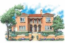 House Plan Design - Mediterranean Exterior - Front Elevation Plan #930-59