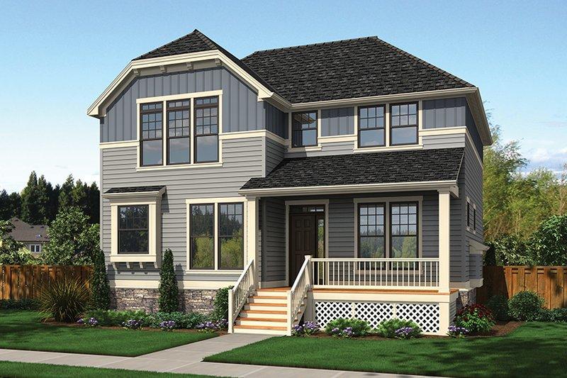 Craftsman Exterior - Front Elevation Plan #48-919