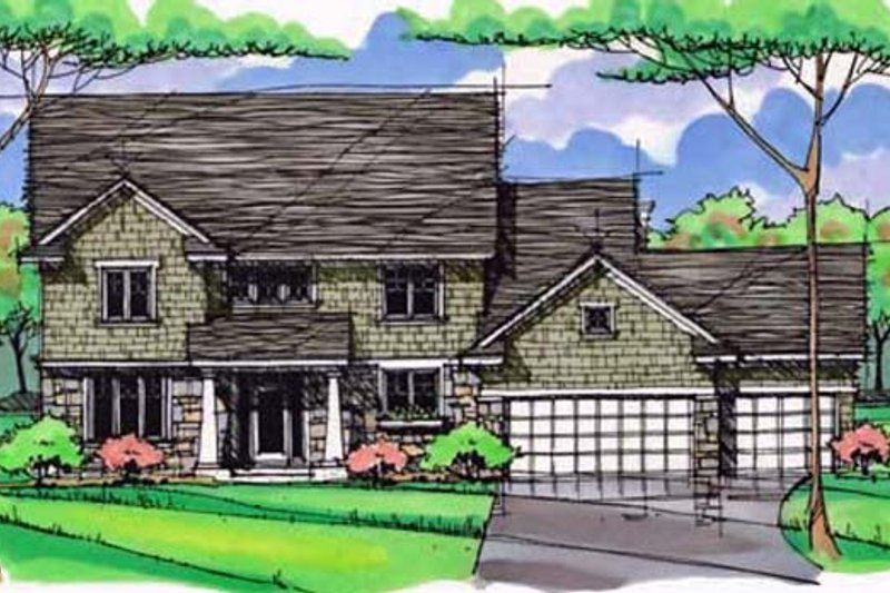 Traditional Exterior - Front Elevation Plan #51-389 - Houseplans.com