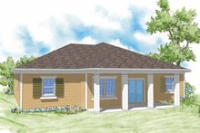 House Plan Design - Country Exterior - Rear Elevation Plan #930-363