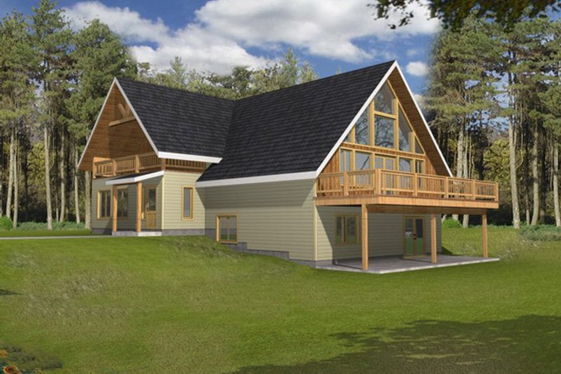 Architectural House Design - Exterior - Front Elevation Plan #117-829