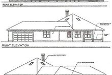 Farmhouse Exterior - Rear Elevation Plan #124-195