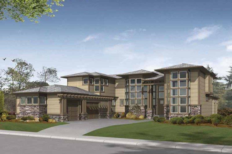 Contemporary Exterior - Front Elevation Plan #132-491 - Houseplans.com