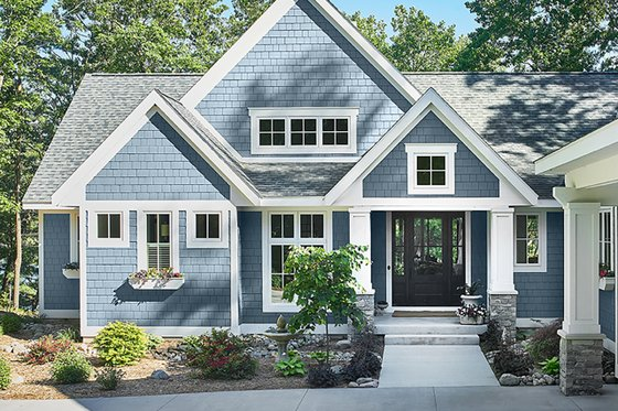 Country Exterior - Front Elevation Plan #928-333
