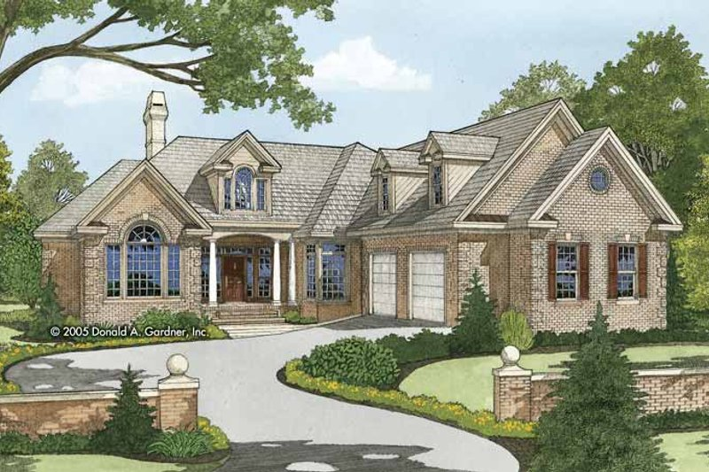 Traditional Exterior - Front Elevation Plan #929-819 - Houseplans.com