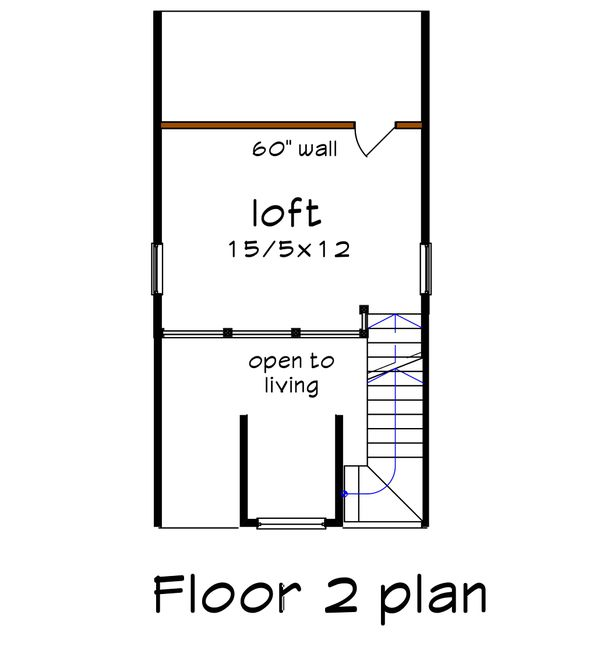 Home Plan - Bungalow Floor Plan - Upper Floor Plan #79-308