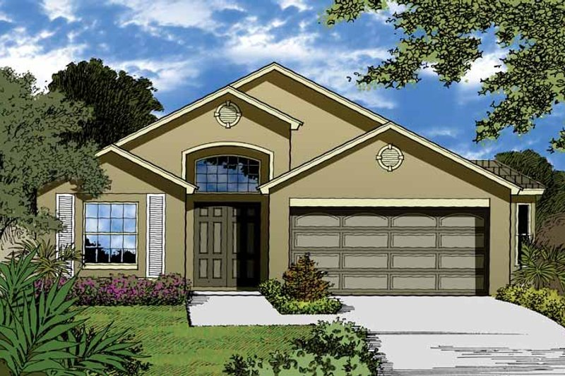 Country Exterior - Front Elevation Plan #1015-26