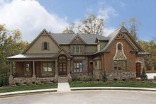 Architectural House Design - Craftsman Exterior - Front Elevation Plan #54-280