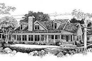Traditional Style House Plan - 3 Beds 3 Baths 2629 Sq/Ft Plan #72-154 Exterior - Rear Elevation