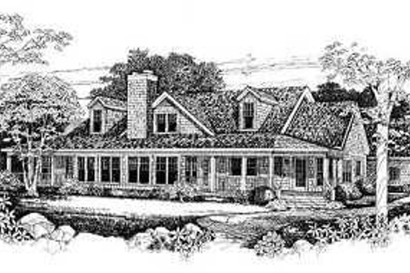 Traditional Exterior - Rear Elevation Plan #72-154 - Houseplans.com