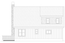 Country Exterior - Rear Elevation Plan #932-54