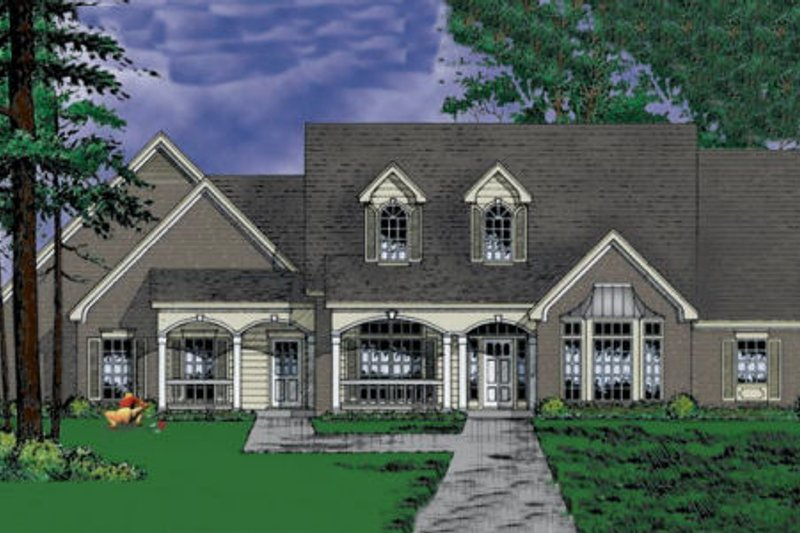 European Exterior - Front Elevation Plan #40-231