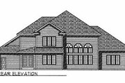 Traditional Style House Plan - 4 Beds 3.5 Baths 3339 Sq/Ft Plan #70-508 Exterior - Rear Elevation