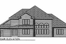 Dream House Plan - Traditional Exterior - Rear Elevation Plan #70-508