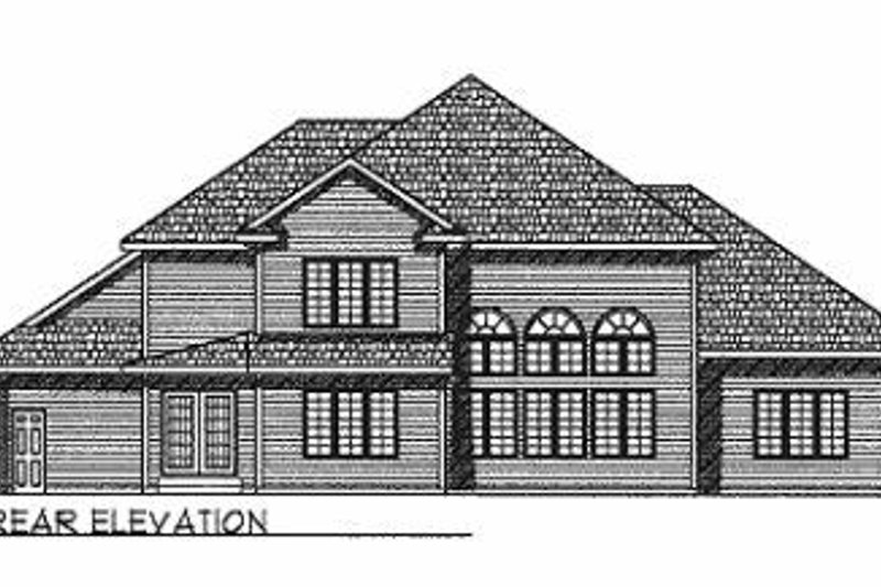 Traditional Exterior - Rear Elevation Plan #70-508 - Houseplans.com