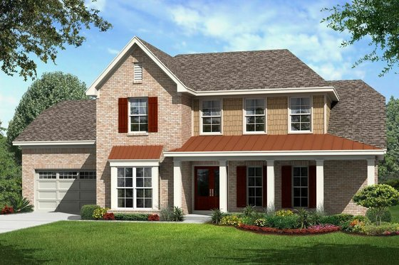 Farmhouse Exterior - Front Elevation Plan #329-354