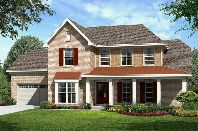 Farmhouse Style House Plan - 4 Beds 3 Baths 2657 Sq/Ft Plan #329-354 Exterior - Front Elevation