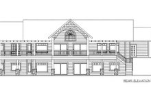 Southern Exterior - Rear Elevation Plan #117-565