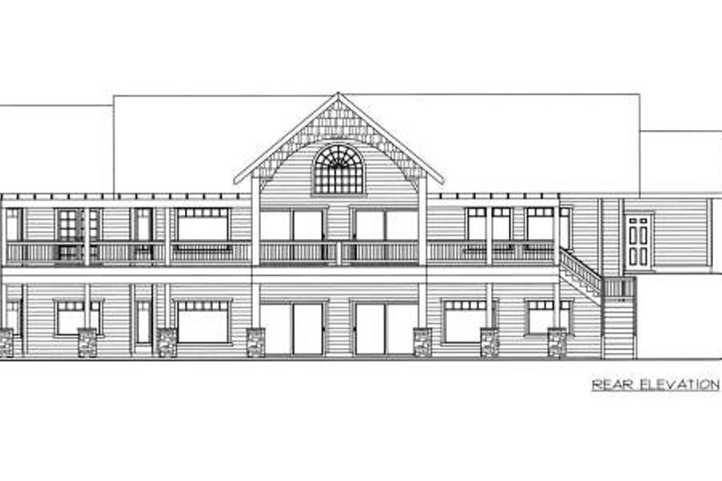 Southern Exterior - Rear Elevation Plan #117-565 - Houseplans.com