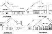 Traditional Style House Plan - 4 Beds 4 Baths 3341 Sq/Ft Plan #65-506 Exterior - Rear Elevation