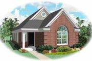 European Style House Plan - 3 Beds 2 Baths 1255 Sq/Ft Plan #81-161