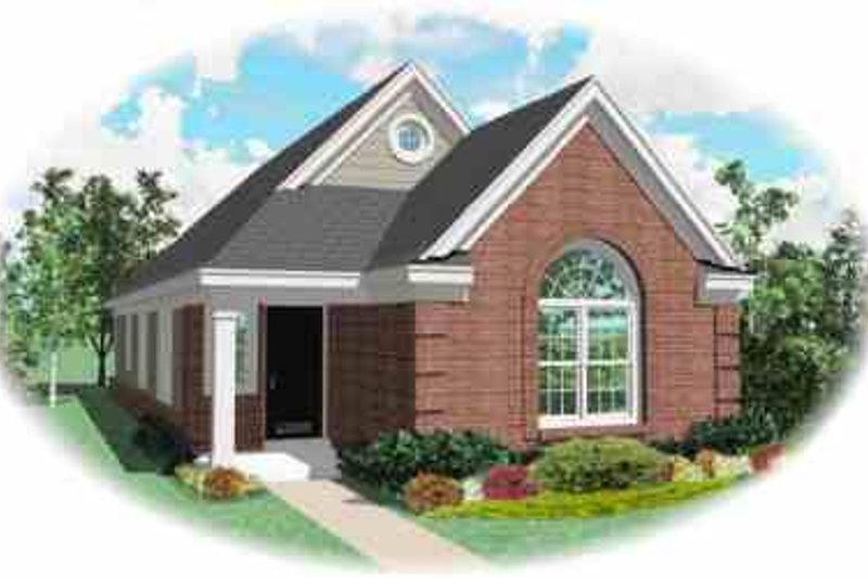 European Style House Plan - 3 Beds 2 Baths 1255 Sq/Ft Plan #81-161 Exterior - Front Elevation