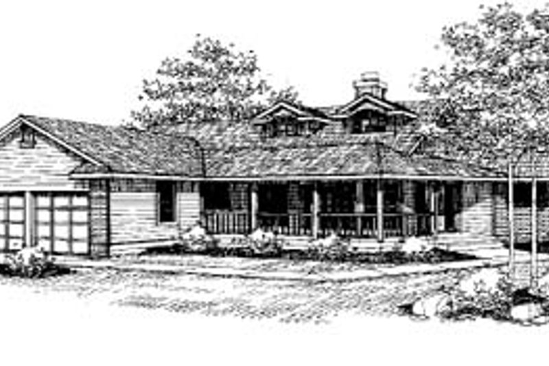 Ranch Exterior - Front Elevation Plan #60-439 - Houseplans.com