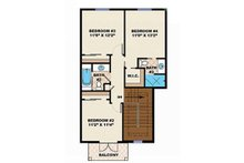 Adobe / Southwestern Floor Plan - Upper Floor Plan Plan #27-458