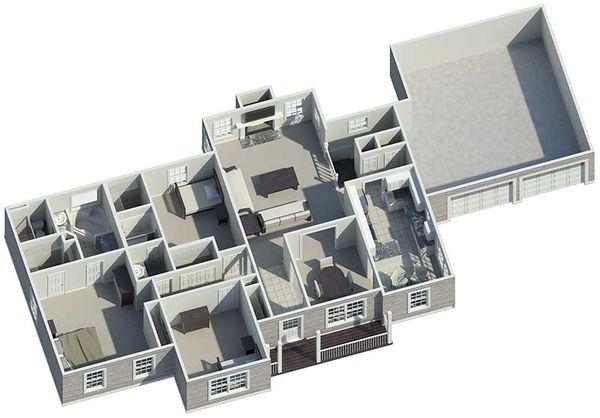 Country Floor Plan - Other Floor Plan #57-140
