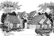 European Style House Plan - 4 Beds 2.5 Baths 3034 Sq/Ft Plan #329-104 Exterior - Front Elevation