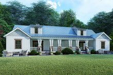 Craftsman Exterior - Rear Elevation Plan #923-123