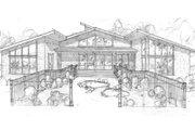 Modern Style House Plan - 4 Beds 3.5 Baths 3996 Sq/Ft Plan #509-9 Photo
