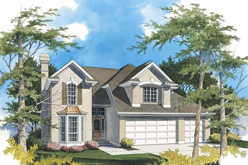 Traditional Exterior - Front Elevation Plan #48-735