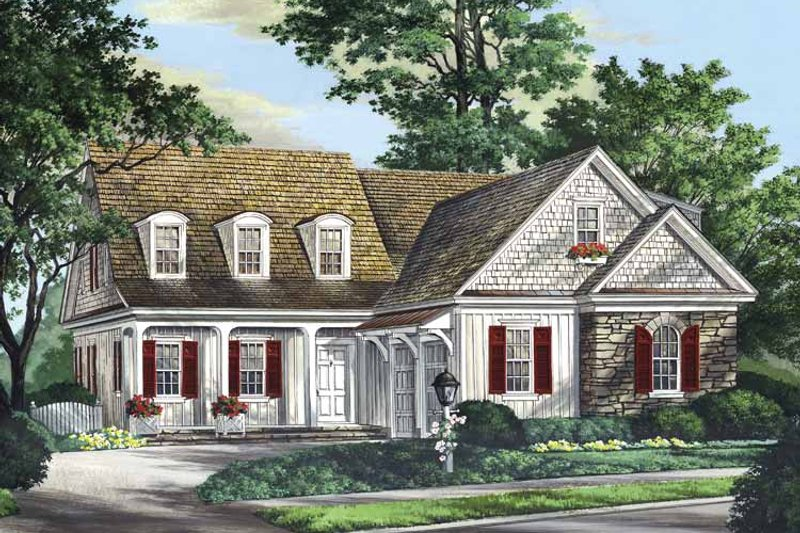 Country Exterior - Front Elevation Plan #137-335
